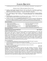 Supply Chain Management Resume Examples Business Operation Manager Resume Business Operations Manager