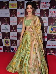 Colour Style by Trendz Green Colour Floral So Beautiful Tamannahh Style Bollywood