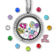charm locket necklace charms images It 39 s a girl floating charm locket set tell me a charm jpg
