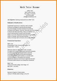 math tutor resume 14 math tutor description new wood