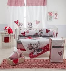 Crib Bedding Sets Girls by Disney Red Minnie Mouse 4 Piece Crib Bedding Set Girls Crib