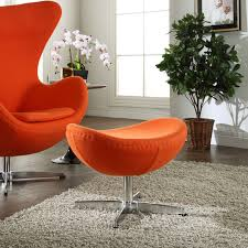 Arne Jacobsen Coffee Table by Jacobsen Style Egg Chair Ottoman In Wool Multiple Colors