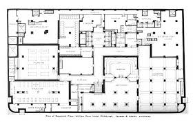 floor plans for basements file william penn hotel basement floor plan jpg wikimedia commons