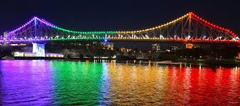 brisbane s story bridge shines in rainbow for idahot observer