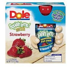 dole fruit snacks dole squish ems strawberry squeezable fruit snack 4