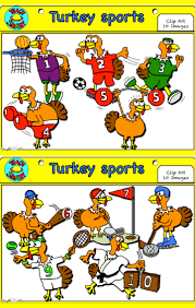the turkeys are trying to get fit in the countdown to thanksgiving