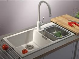 Beautiful Black Composite Kitchen Sink On Small Kitchen Room With - Kitchen sinks granite composite