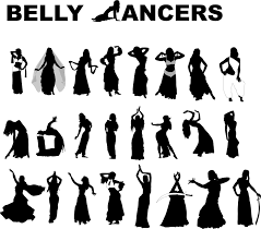 belly dancers u2013 25 free vector silhouettes www vectorfantasy com