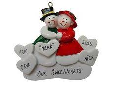 Grandparent Ornaments Personalized Bear Sled Personalizd Ornament For Grandparents With 6 Grandkids