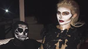 Halloween Skeleton Faces by Kylie Jenner Turns Heads As A Skeleton At Epic Halloween