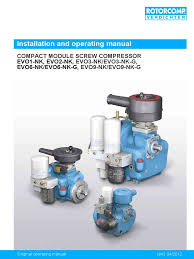 evo nk manual valve gas compressor
