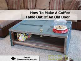 How To Make A Coffee Table by Coffe Table From Old Door2 1200x902 Jpg