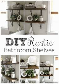 grace lee cottage diy rustic bathroom shelves