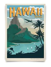 Hawaii travel art images 120 best vintage travel posters images vintage jpg