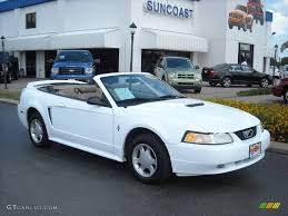 2000 Ford Mustang Black 2000 Crystal White Ford Mustang V6 Convertible 8493030 Gtcarlot
