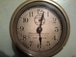 beautiful clocks beautiful little american rim wind clock collectors weekly