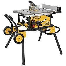 dewalt table saw guard dewalt dwe7499gd 10 inch jobsite table saw with rolling stand and