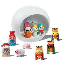 tiny sheep christmas figures amgi10set3 by alessi nova68 com