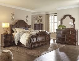 Zelen Bedroom Set Dimensions Florentown Dark Brown Sleigh Bedroom Set From Ashley Coleman