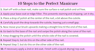 how to give yourself the perfect manicure miss a charity