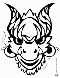 amazing design mask coloring pages print adults african