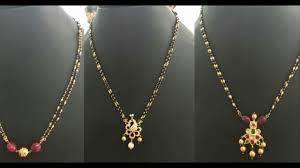 black pearl chain necklace images Latest black beads gold chains design collection _2016 jpg