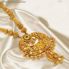 long rings design images Indian gold designs haram and earrings jewellery designs jpg