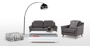 white leather 2 seater sofa rufus 2 seater sofa rhino grey made com