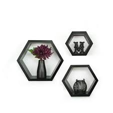 decorative accents walmart com pinnacle frame 3 piece hexagallery wall decor black
