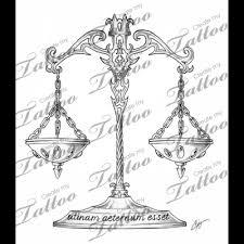 libra scale designs tattoos libra scale