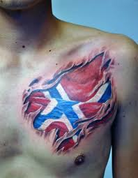 3d norsk flag skin rip on chest ideas stuff