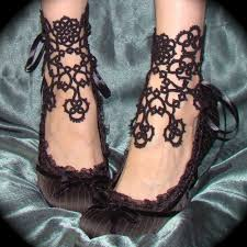 lace accessories in bloom ankle corsets tatted lace accessories