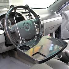 Truck Laptop Desk Auto Black Laptop Tray Table Stand Steering Wheel Mount Car Truck