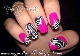 zebra pattern nail art my pretty nailz fun zebra print konad nail art sting design
