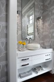 Contemporary Wallpaper For Bathrooms - contemporary powder room with wall sconce by todd emerson zillow