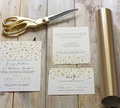Diy Wedding Invites How To Add Gold To Diy Wedding Invitations Mountain Modern Life