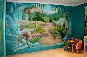 chambre dinosaure les stickers muraux jouent les gentils monstres