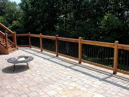 Outdoor Banister Nice Ideas Patio Fence Astonishing How To Build A Wood And Metal
