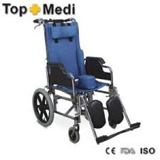 chromed steel reclining high back wheelchair with foldable push
