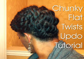 updo hairstyles with big twist 19 natural hair protective style chunky flat twists updo youtube
