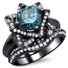 blue wedding rings the beauty blue diamond wedding rings lovely rings