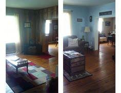 Covering Wood Paneling Before And After