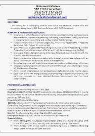 Sample Resume For Sap Mm Consultant Sap Fi Consultant Resume Format
