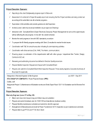 Project Engineer Sample Resume by Project Engineer Cover Letter