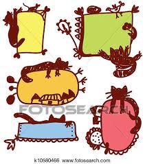 immagini cornici per bambini clip divertente gatti cornici per bambini set k10580466