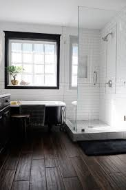unique decoration white wood tile bathroom inspiring dark wood