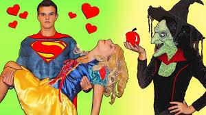 superman princess snow white poisoned witch u0026 superhero