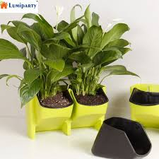 self watering indoor planters lumiparty stackable 2 pocket vertical wall planter self watering