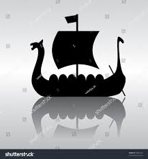 vector silhouette image ancient viking ship stock vector 44882143