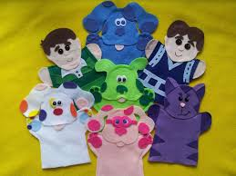 blues clues puppets blue magenta steve green puppy perwinkle
